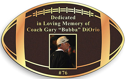 custom shape cast bronze plaque, football