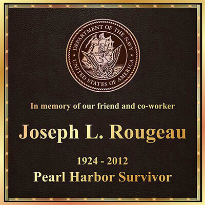 custom bronze military plaque