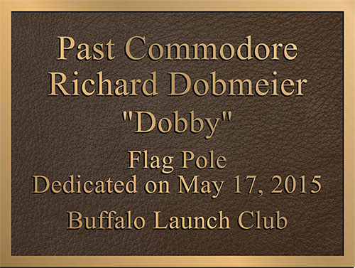 curved bronze plaques, flag pole curved plaque