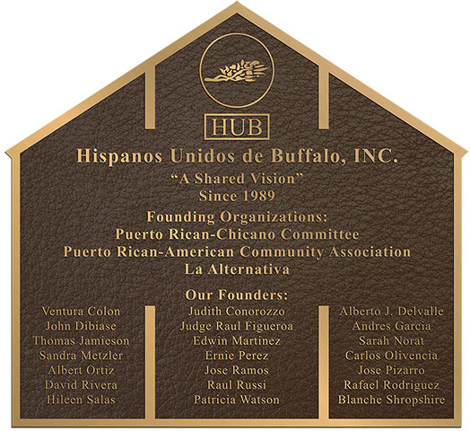 custom bronze plaques, custom house shape and border