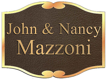 custom bronze plaque, homeplate custom shape bronze memorials plaques