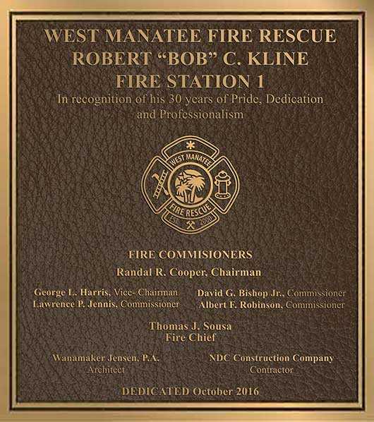 fire department bronze plaque, police department bronze plaques