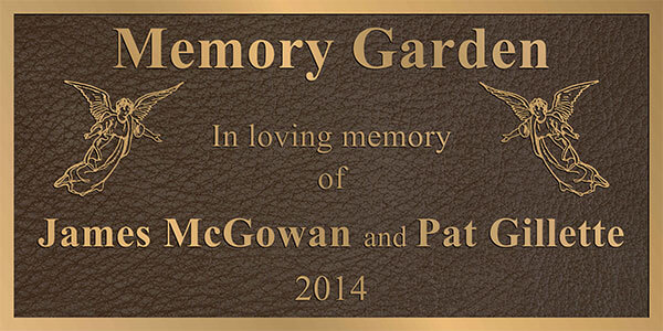 bronze memorial plaque, custom, bronze memorial plaques