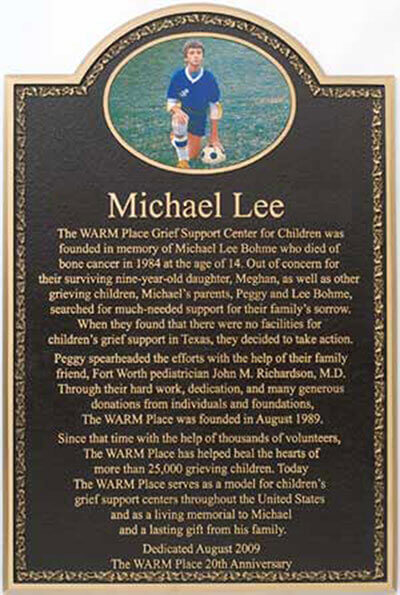 memorial bronze plaque, color photo bronze memorials plaque