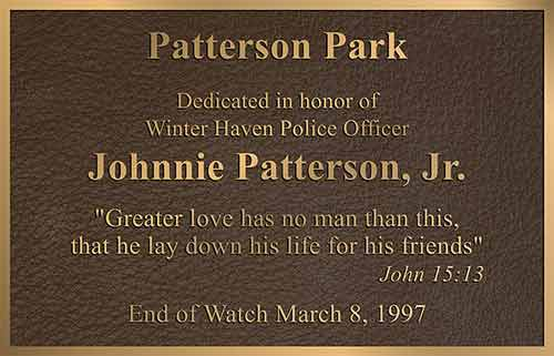 end of watch bronze memorial plaques