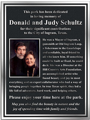 aluminum memorial plaque color photo aluminum memorial plaques