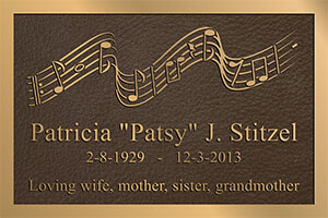 custom logo bronze memorial plaques