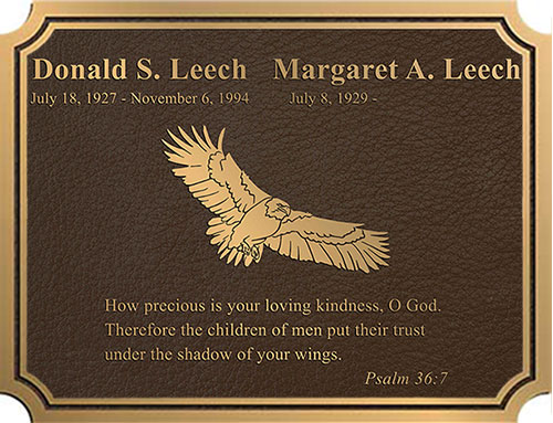 bronze memorial plaque, custom bronze memorial plaques