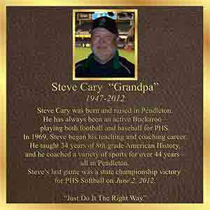 bronze memorial plaque full color photo