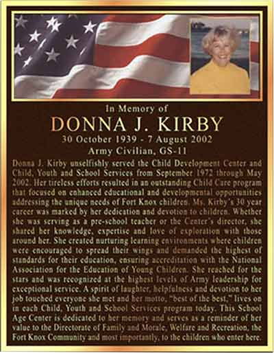 bronze memorial plaques color photo