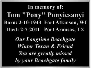 aluminum memorial plaque