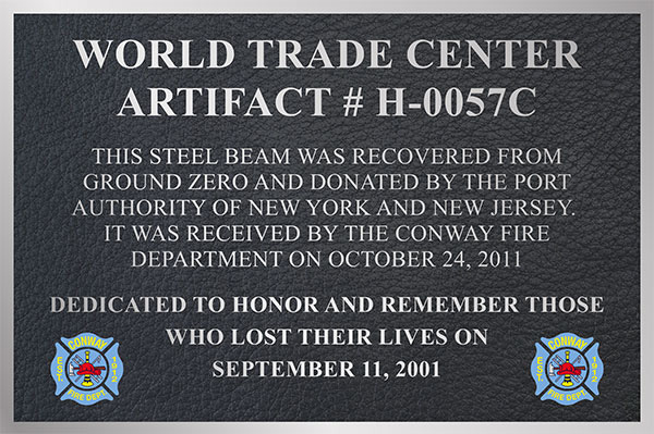 9 11 bronze plaque, September 11 memorial, September 11 memorial plaques