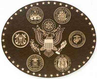 military plaques, military seals, military emblems