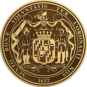 maryland bronze state seal, maryland bronze plaque