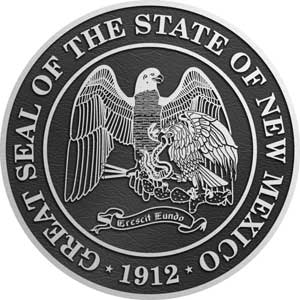 new mexico Aluminum State Seal, new mexico Aluminum state plaque